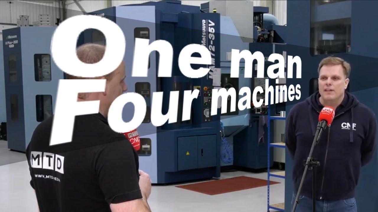 One man one machine to one man four machines.