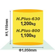 H.Plus-630/800最大ワークサイズ